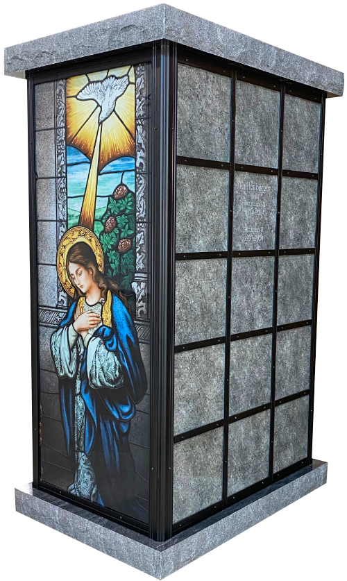 Columbaria Stained Glass endcap